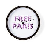 Free Paris Wall Clock