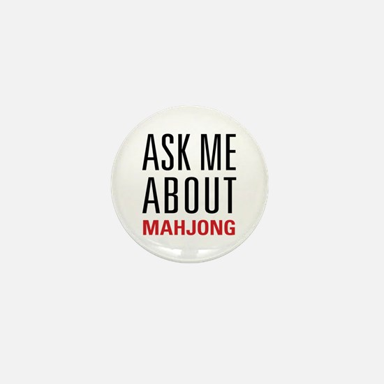 Mahjong - Ask Me About - Mini Button