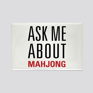 Mahjong - Ask Me About - Rectangle Magnet