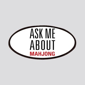 Mahjong - Ask Me About - Patches