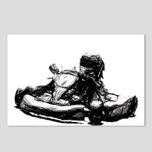 Kart Racer Pencil Sketch Postcards (Package of 8)