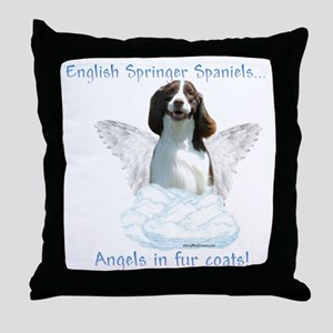 Springer Spaniel Angel Throw Pillow
