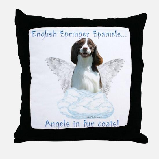 Springer Spaniel Angel Throw Pillow