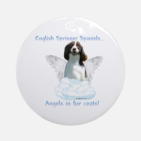 Springer Spaniel Angel Ornament (Round)