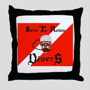 Born To Roam Divers Throw Pillow