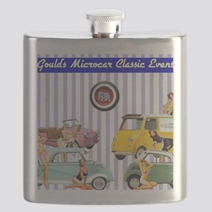 Micro-pinups/lavender background Flask