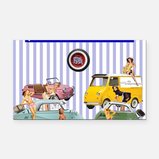 Micro-pinups/lavender backgro Rectangle Car Magnet