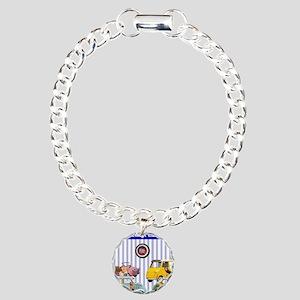 Micro-pinups/lavender ba Charm Bracelet, One Charm