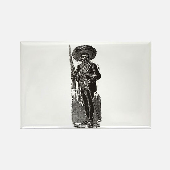 Emiliano Zapata - Posada Wood Rectangle Magnet