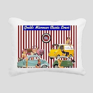 Microcar Pin-Up Girls Rectangular Canvas Pillow