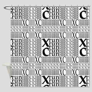 XC Run Repeats Shower Curtain