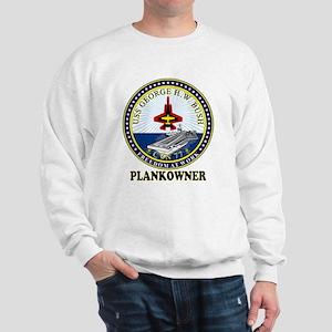 CVN-77 Plankonwer Crest Sweatshirt
