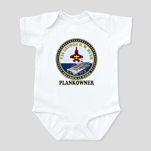 CVN-77 Plankonwer Crest Infant Bodysuit
