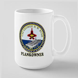 Cvn-77 Plankonwer Crest Large Mug Mugs