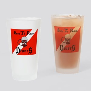Born To Roam Divers Drinking Glass
