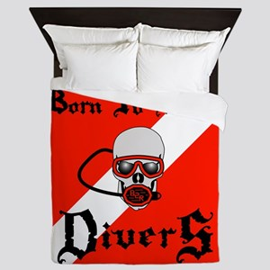 Born To Roam Divers Queen Duvet