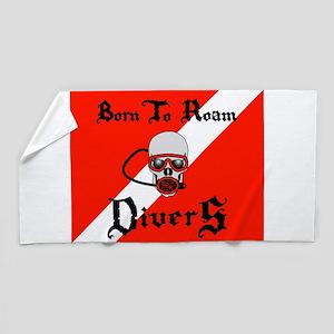 Born To Roam Divers Beach Towel