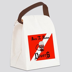 Born To Roam Divers Canvas Lunch Bag