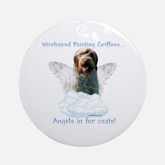 Wirehaired Angel Ornament (Round)