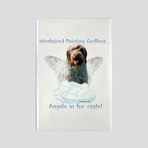 Wirehaired Angel Rectangle Magnet