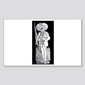 Emiliano Zapata - Mexican Rev Sticker (Rectangular