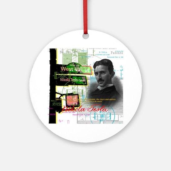 Nikola Tesla NY Ornament (Round)