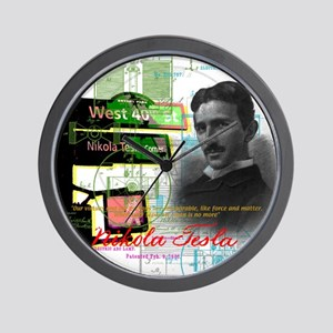 Nikola Tesla NY Wall Clock