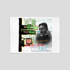 Nikola Tesla NY 5'x7'Area Rug