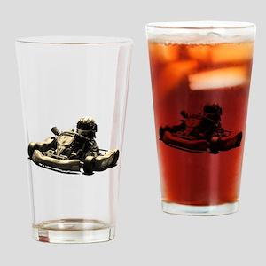Kart Racer Sepia Tone Drinking Glass