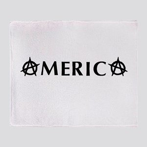 America Anarchy Throw Blanket