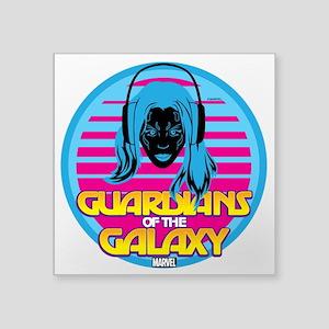 "80s Gamora Square Sticker 3"" x 3"""