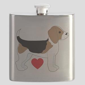 Beagle Love Flask