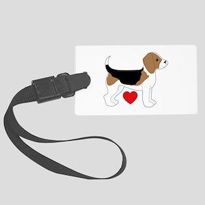 Beagle Love Large Luggage Tag