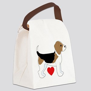 Beagle Love Canvas Lunch Bag