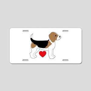Beagle Love Aluminum License Plate