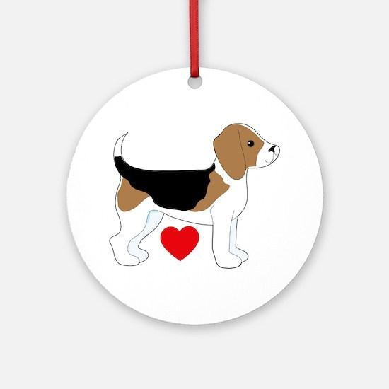 Beagle Love Ornament (Round)