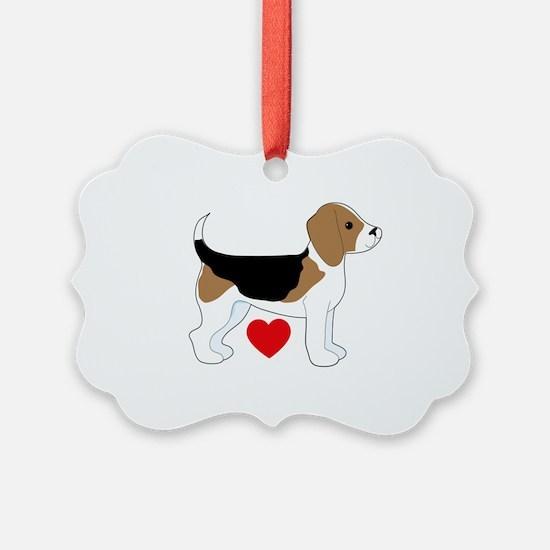 Beagle Love Ornament