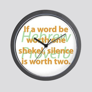 If A Word Be Worth Wall Clock