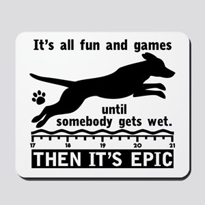 Dock Jumping Dog Mousepad