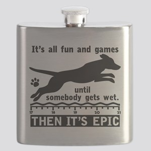 Dock Jumping Dog Flask