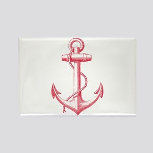 vintage red anchor Magnets