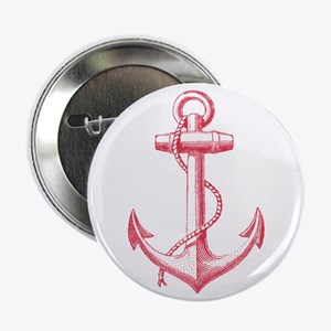 "vintage red anchor 2.25"" Button"