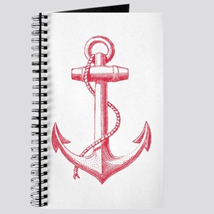 vintage red anchor Journal