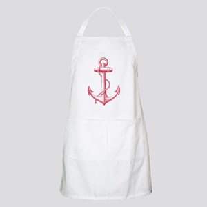 vintage red anchor Apron