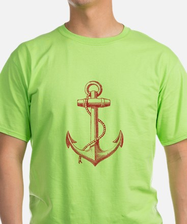vintage red anchor T-Shirt