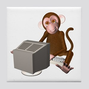 Code Monkey 3 Tile Coaster