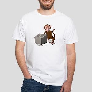 Code Monkey 3 White T-Shirt