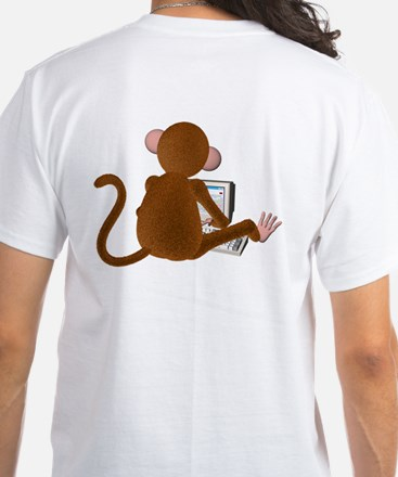 Code Monkey 3 White T-Shirt