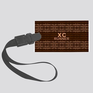 XC Runner brown Large Luggage Tag