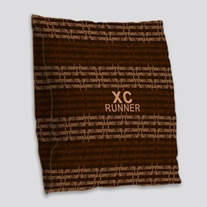 XC Runner brown Burlap Throw Pillow